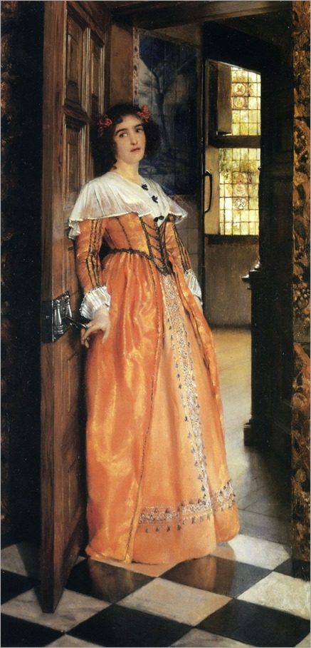 At the Doorway - Laura Alma-Tadema (english painter)