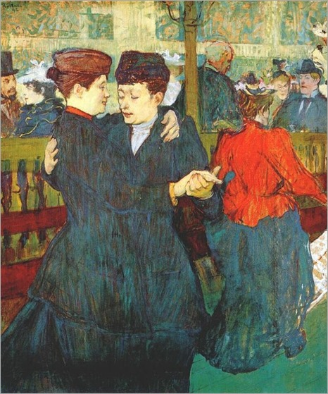 At the Moulin Rouge- Two Women Waltzing- (1892)-Lautrec