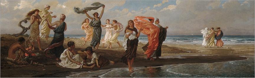 bathing greek girls_Elihu Vedder