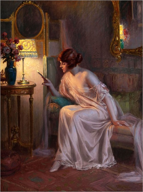 Before bedtime. Delphin Enjolras (French, 1857-1945). Oil on canvas
