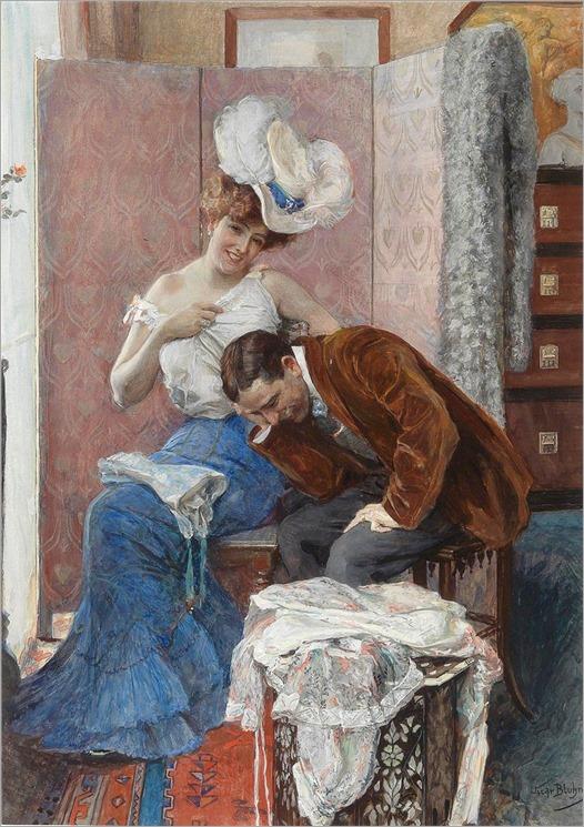 cena galante_médico e paciente_Oscar Arthur Bluhm (alemão, 1867–1912)