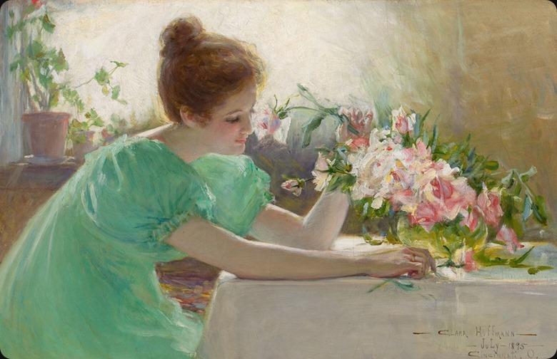 CLARA HOFFMAN (American, 1862-1897)_flagrant flower, 1895