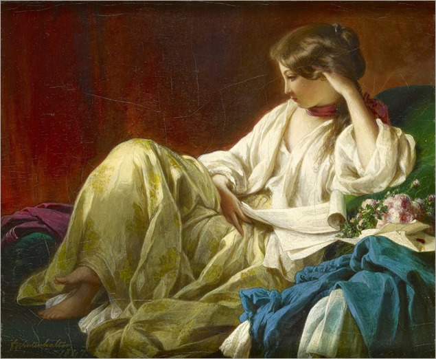 Contemplation (1847). Franz Xaver Winterhalter (German, 1805-1873)