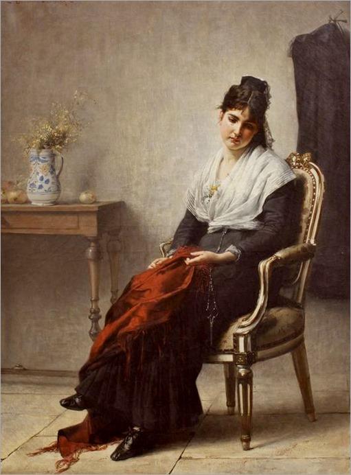 Dreamer, 1880 ~ Henri Bouchet-Doumenq ~ (French- 1834-1884)