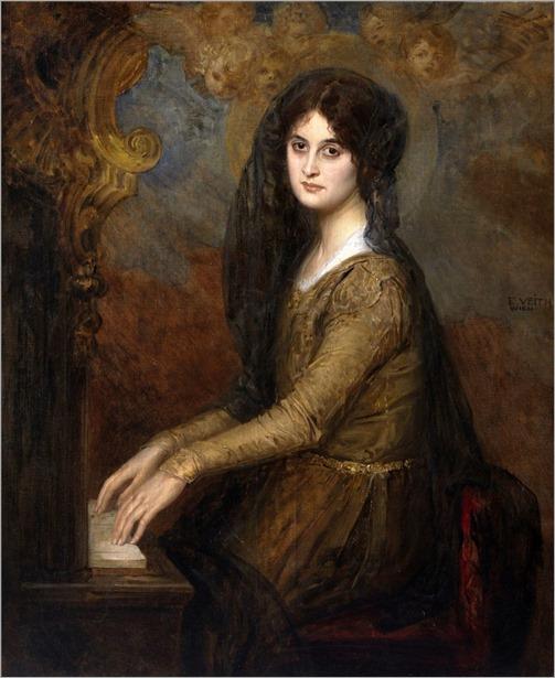 EDUARD VEITH (AUSTRIAN, 1856-1925)-Saint Cecilia