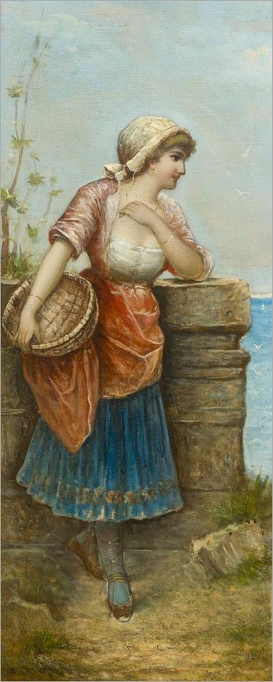 Egisto Ferroni(Italian, 1835-1912)Peasant Woman