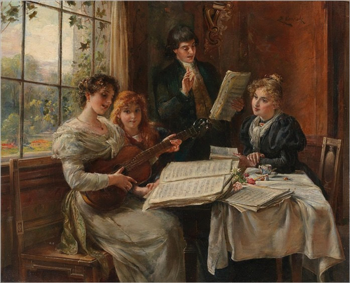 Ernst Nowak (1851-1919) Musical Entertainment