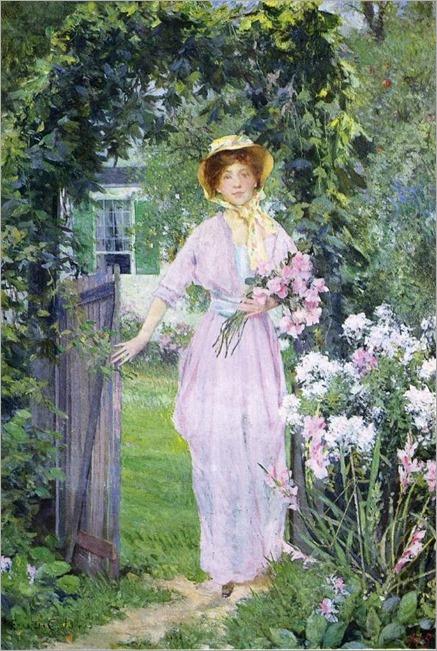 Francis Coates Jones - Young Woman in the Garden