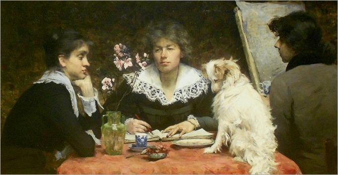 friends-Marie Louise Catherine Breslau - 1881