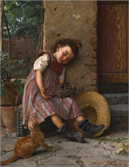 Gaetano Chierici (Italian, 1838-1920) A Propitious Moment. 1882