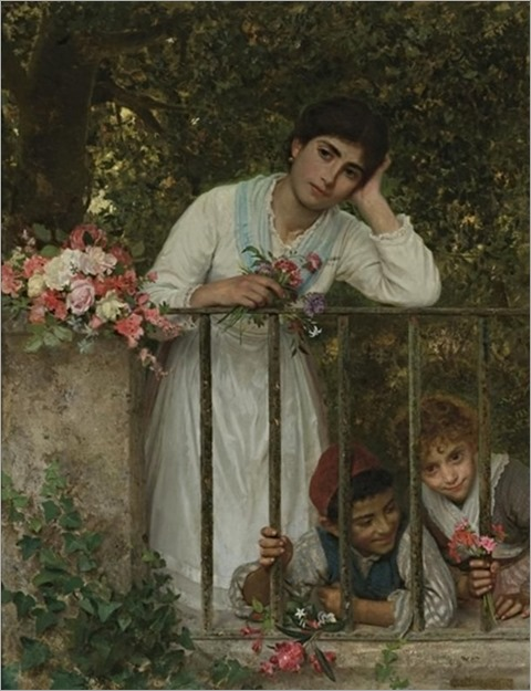 Gathering Bouquets - Sophie Anderson