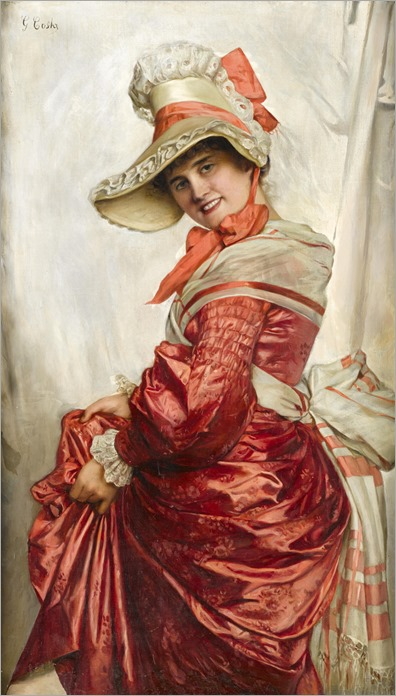 Giovanni Costa (1833 - 1903) - Showing off the new dress