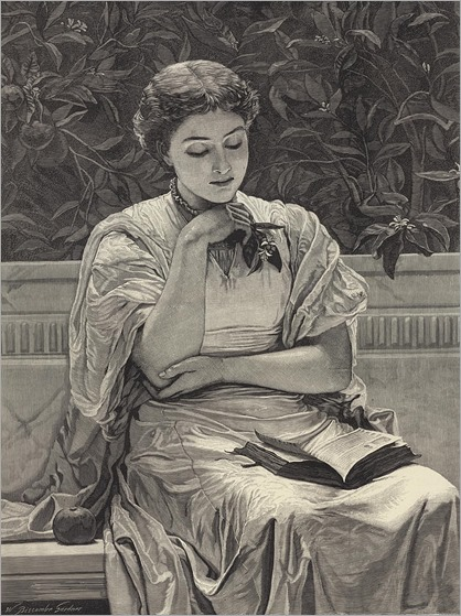 girl-reading-charles-edward-perugini