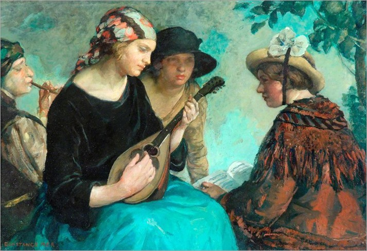 Girl with a Mandolin. Constance Rea (English, 1865-c.1925)