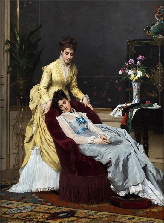 Gustave Léonhard de Jonghe (Belgian, 1829-1893) Sweet dreams