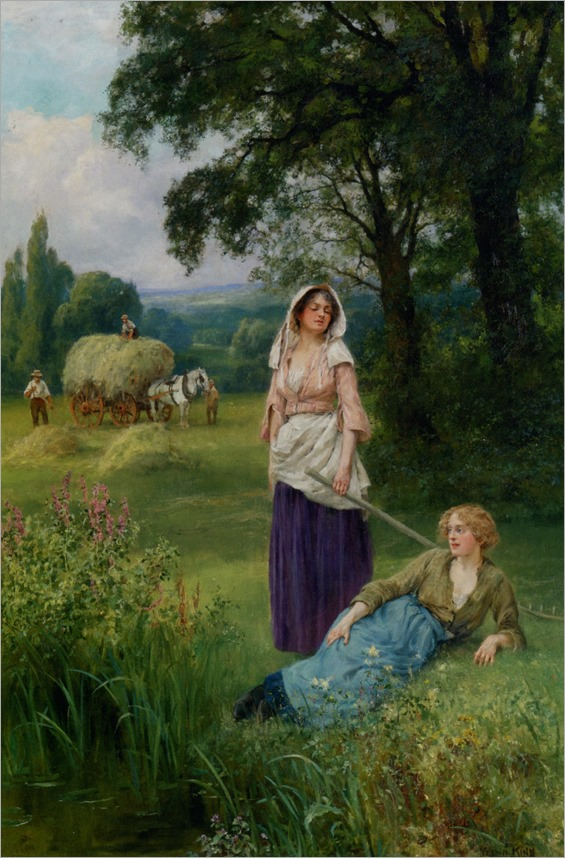 Haymaking-by-Henry-John-Yeend-King