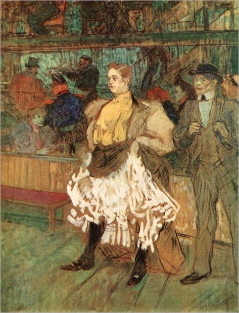 Henri de Toulouse-Lautrec, At the Moulin Rouge, 1892, Oil on cardboard