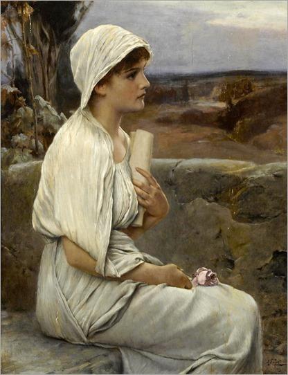 Hypatia. Alfred Seifert (Czech, 1850-1901). Oil on panel