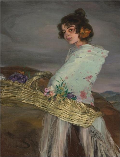 Ignacio Zuloaga y Zabaleta (Spanish,1870-1945) Gitana florista