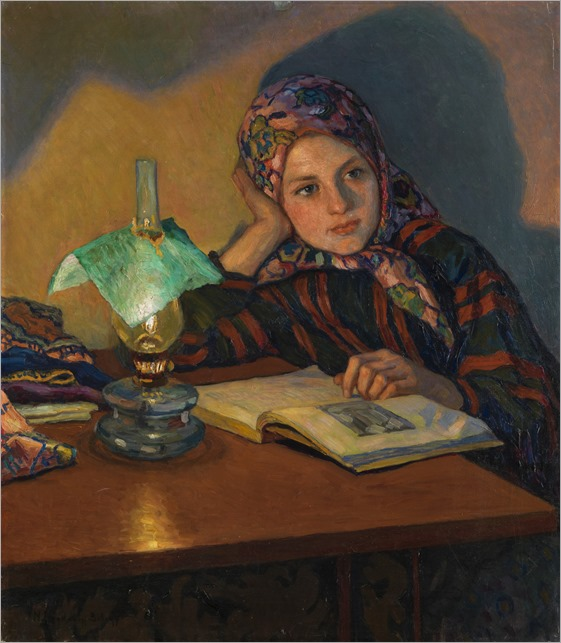 Inspiration. Nikolai Petrovich Bogdanov-Belsky (Russian, 1868-1945)