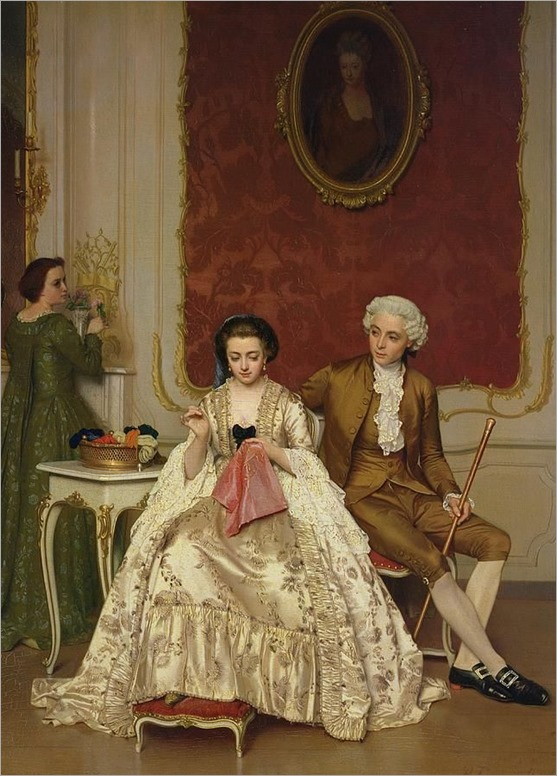 Jealousy, 1861 by Petrus Renier Hubertus Knarren (Belgian 1826-1869)
