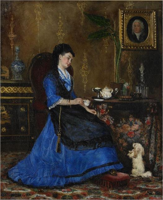 Johanna Södergren (Swedish, 1847 – 1923)-Lady in blue
