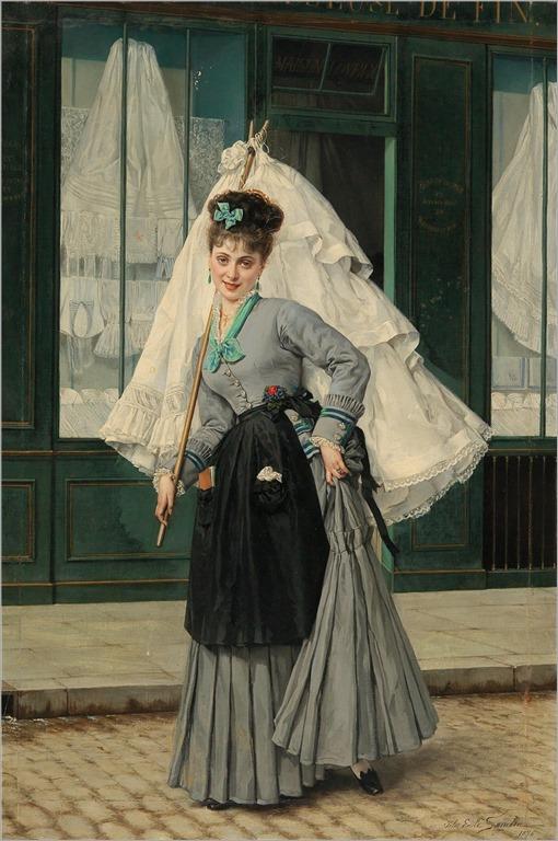 Jules Emile Saintin (1829-1894) Running an errand. 1874