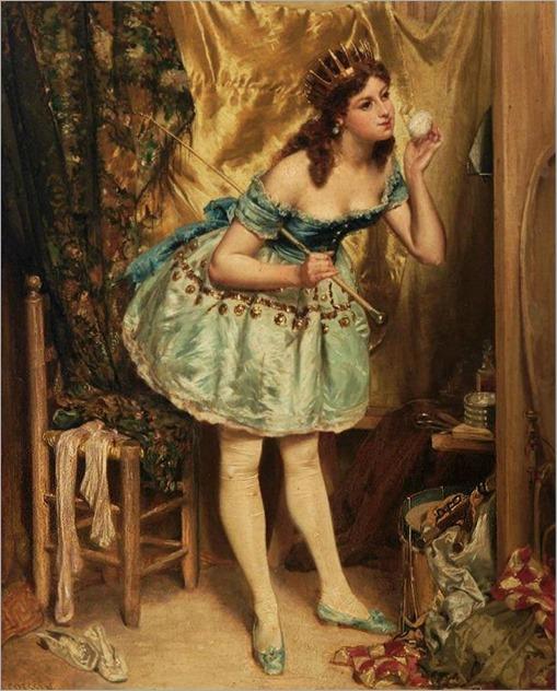 L'Ecuyere de Cirque-Charles-Alexandre Coessin De La Fosse (French, 1829-1910)