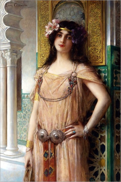 Leon-Francois Comerre (FRENCH, 1850-1934) - A BEJEWELED HAREM BEAUTY