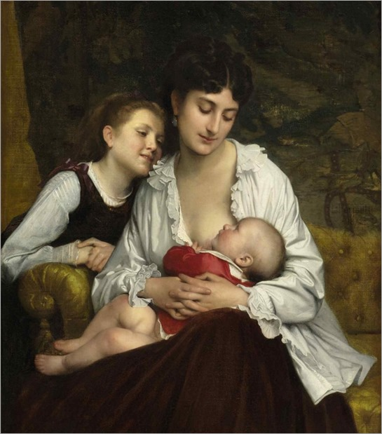Leon-Jean-Basile Perrault (1832-1908) Motherly Love