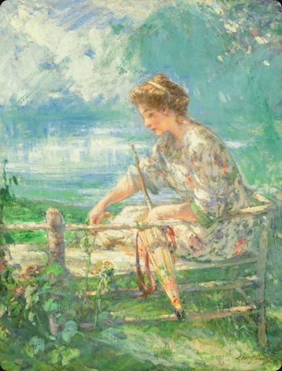 Lillian Mathilde Genth (American, 1876-1953). Flower Picking, Summer