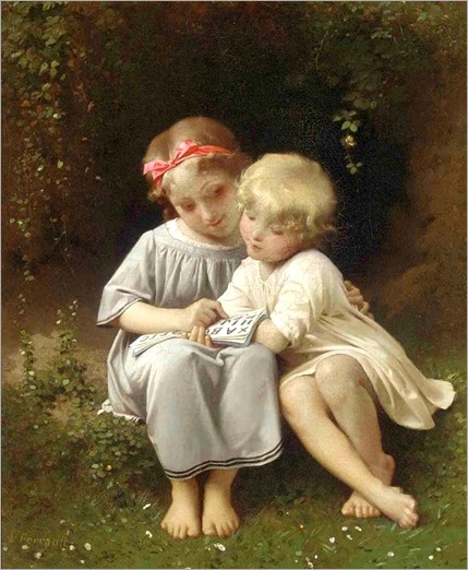 Léon Jean Basile Perrault (French, 1832-1908) _The little scholars