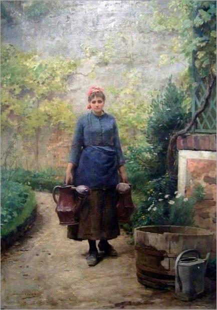 Louis-Emile Adan (French, 1839-1937) -The Garden- 1890
