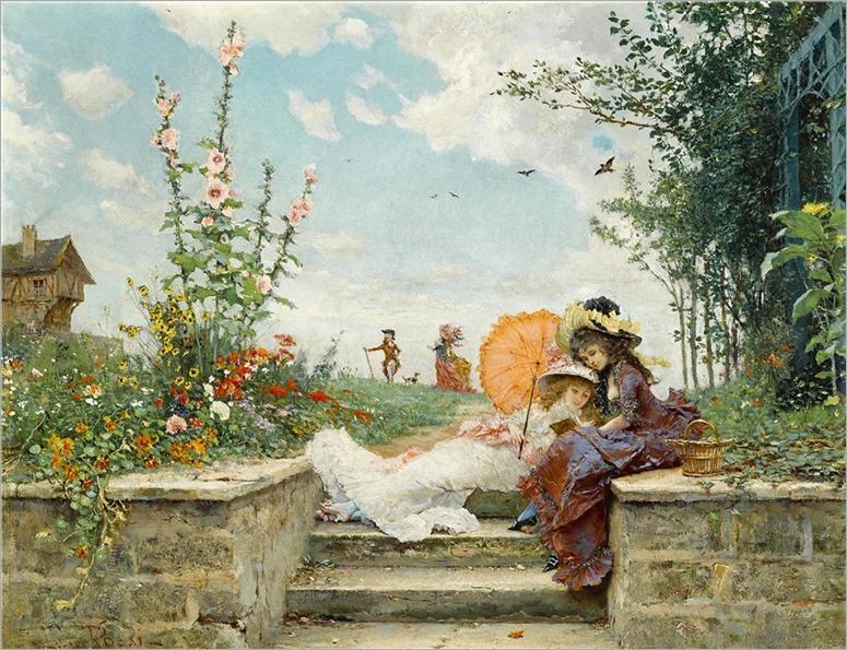 Lucius Rossi (Italian, 1846-1913) Leisure hours