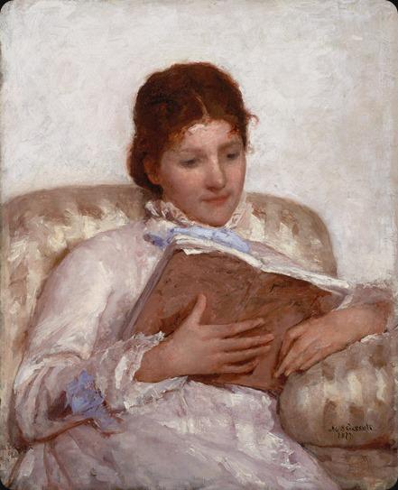 Mary Cassatt (1844-1926) The Reader 1877 Oil on canvas