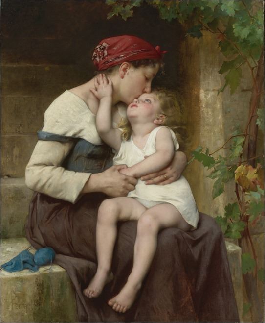 mother with child-Leon Perrault