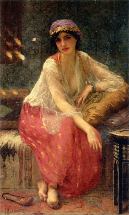 Odalisque-by-Charles-Amable-Lenoir