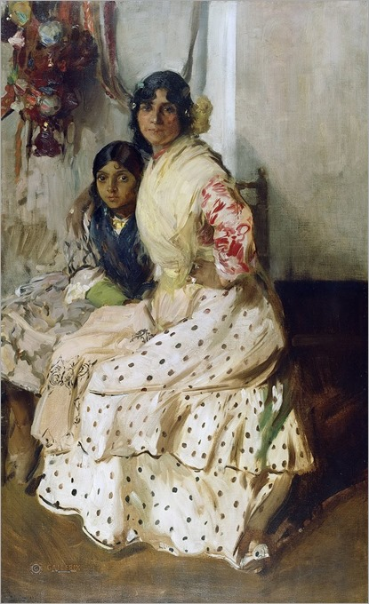 Pepilla the Gypsy and Her Daughter - 1910 by Joaquin Sorolla (spanish painter)