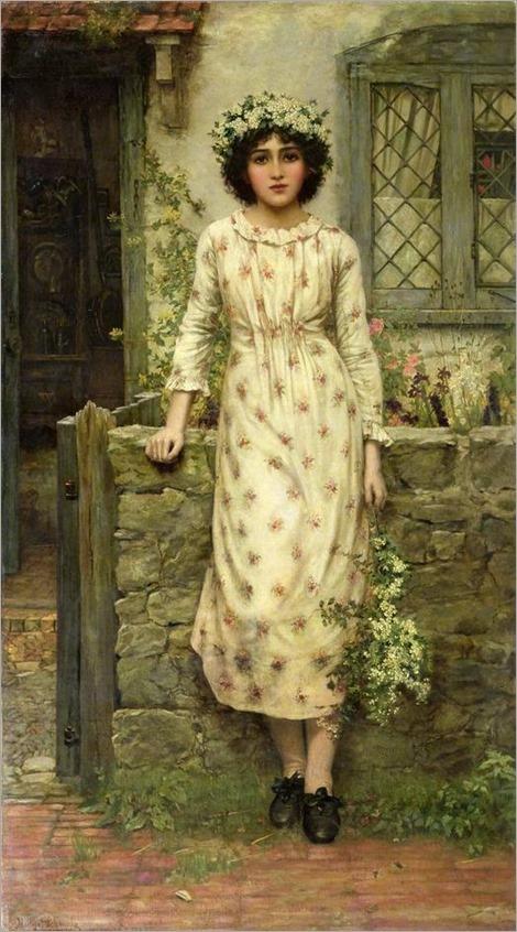 'Queen of May', Herbert Gustave Schmalz, 1884