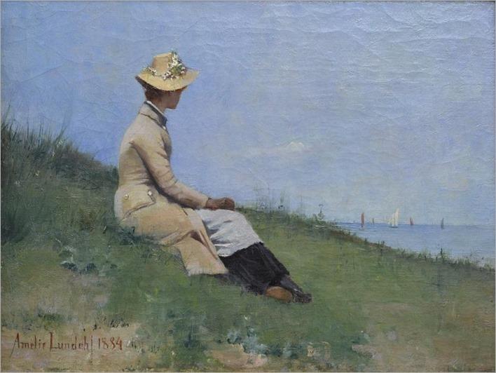 Rannalla, Bretagne - Amélie Helga Lundahl 1884Finnish 1850-1914