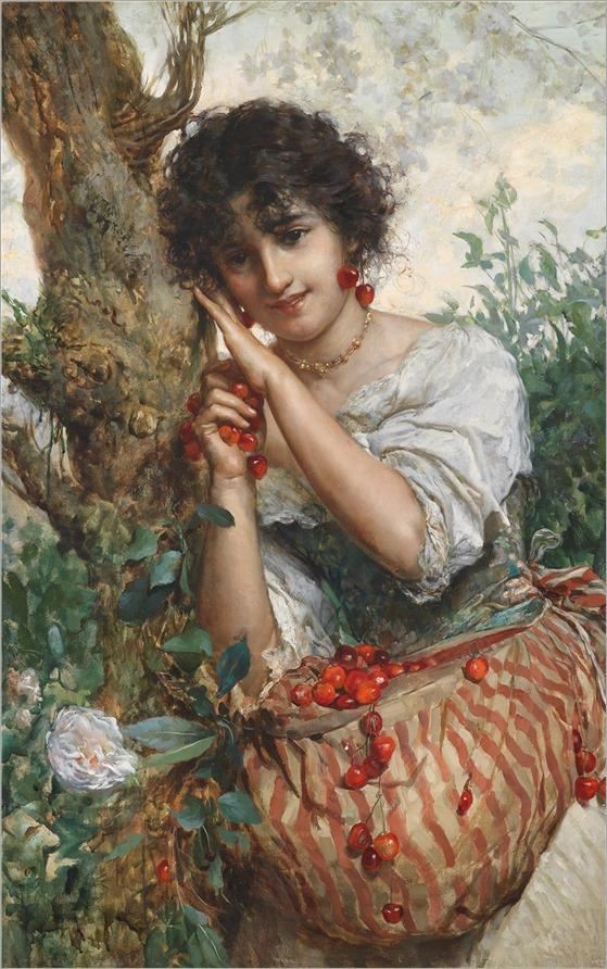 Salvatore Postiglione (1861-1906) Kirschenzeit