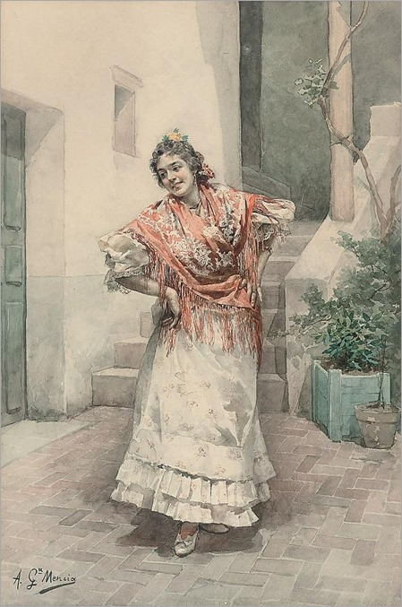 spanish dancer by ANTONIO GARCIA Y MENCIA (Spanish 1853-1915)