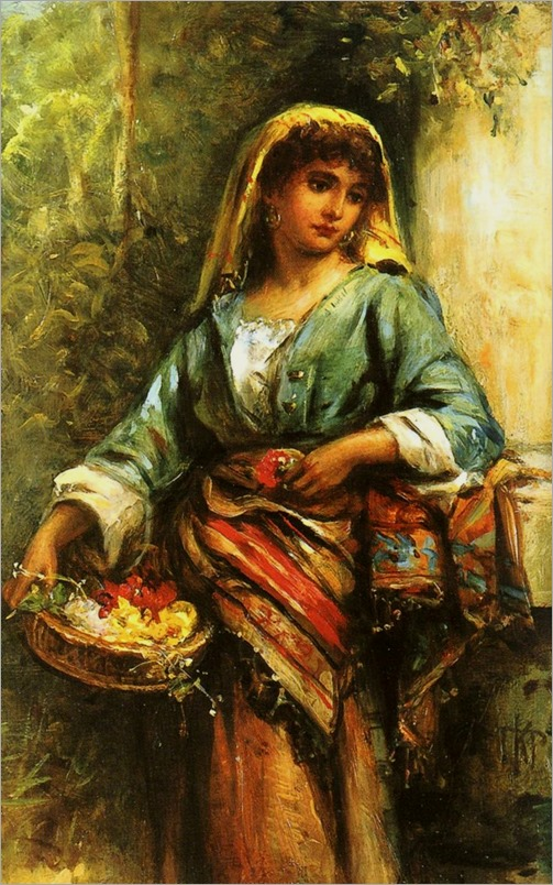 the flower girl - Thomas Kent Pelham