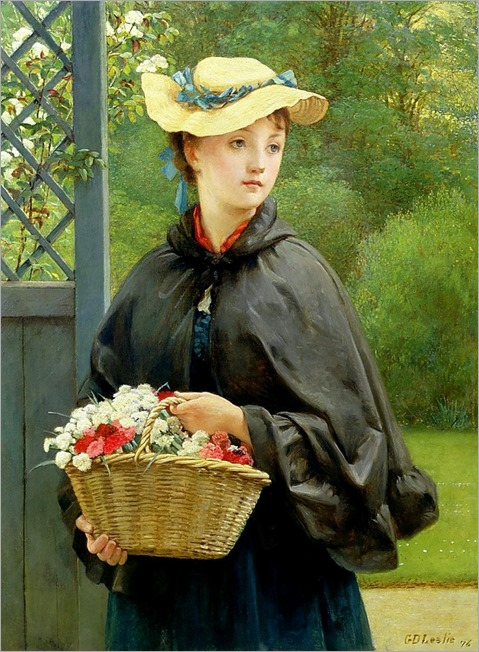 The Gardener's Daughter - 1876 - George Dunlop Leslie (english painter)