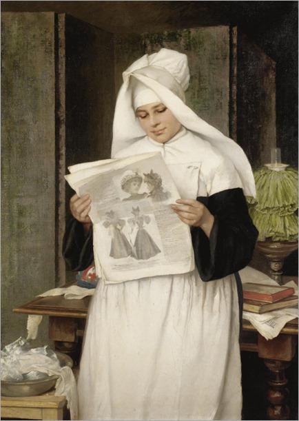 The Latest Trends. Luise Max-Ehrler (Italian, b.1850)