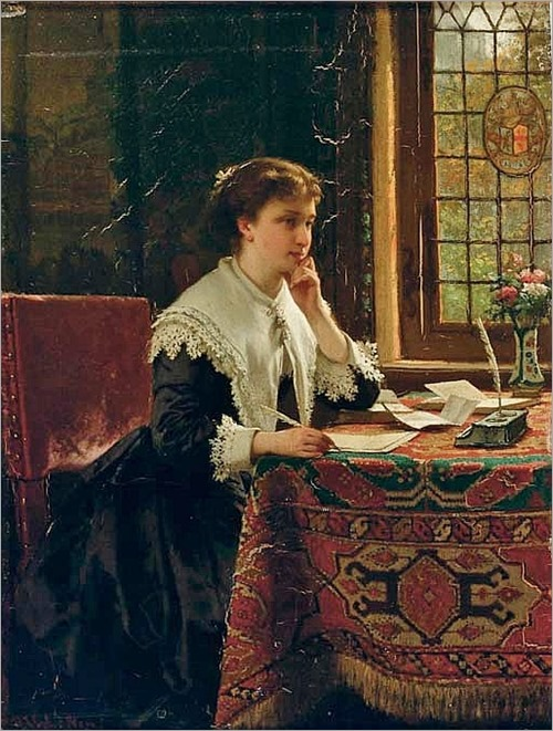 the love letter by Hendrik Jacobus Scholten (Dutch, 1824-1907)