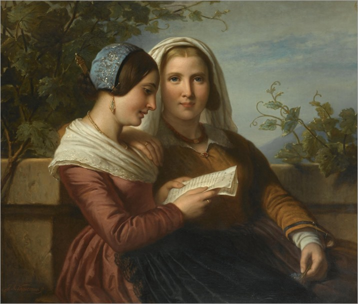 The Love Letter. Jan Adam Jansz. Kruseman (Dutch, 1804-1862)