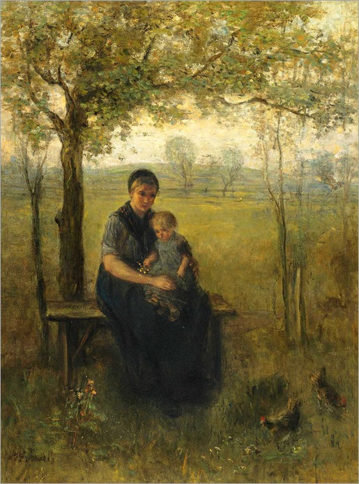 The Madonna of Drenthe - Jozef Israels (dutch painter)