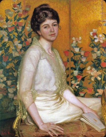 The Poppy Screen (1915). Lilla Cabot Perry (American, 1848-1933)