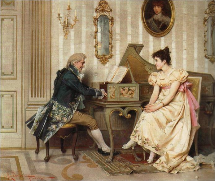 the serenade_Adriano Cecchi (italian, 1850-1936)